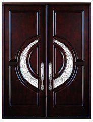 Double Front Entry Door Modern Mahogany Wood Door Pre-hung Doors With Framing Wooden Front Door Design, Double Door Design, Sliding Door Design, Room Door Design, Double Front Entry Doors, Wood Entry Doors, Front Doors, Hardware, Solid Wood