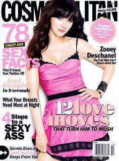 Zooey Deschanel October 2012 Cosmopolitan