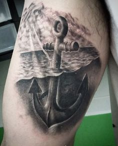 Anchor Tattoo Design by Hakro Jones