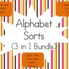 $Alphabet Sorts - Uppercase, Lowercase, and Mixed! - Great activity to have your kids differentiate between letter formations and identifying lette...
