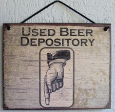 Used Beer Sign s Drinking Bar Bathroom Tap Stein Opener Can Crusher Accessories