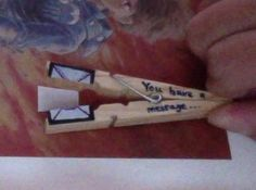 How to make a recycled card. Clothespin Message - Step 8