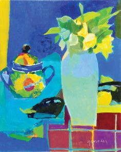 Jazmines, óleo sobre lienzo, 50x40cm, 2012.  www.gracielagenoves.com.ar