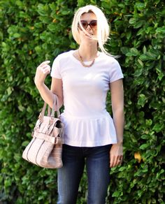 Peplum T-shirt DIY ~ Who knew a t-shirt could look so flirty and feminine?