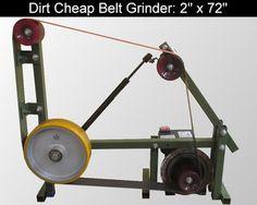DIY Knifemaker's Info Center: Dirt Cheap 2 x 72 Belt Grinder Build