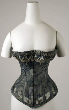 Corset ca. 1878 via The Costume Institute of The Metropolitan Museum of Art