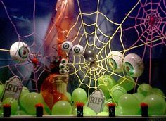 Image detail for -Design Gallery - Halloween Window Display ** the spider window wasn't in the gallery as far as I saw, but they have great Halloween Window display ideas.
