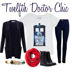 """Twelfth Doctor Chic"" by skreenedtees on Polyvore"