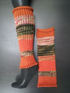 Custom hand knitted leg warmers by Loom of a Fruit