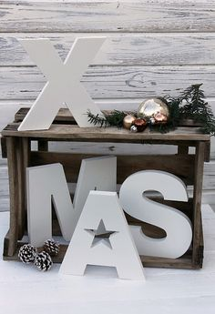 Like this but I dont use the X in Christmas...I would put Love, or Joy, peace...some other word! :)