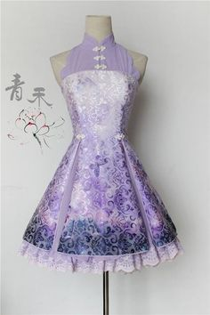 --> Pre-order: Qinghe ~Darkstriped Butterflies and Flowers~ Qi Lolita JSK --> Pre-order Price: 84.99USD | After pre-order price: 88.99USD --> Save Now: http://www.my-lolita-dress.com/qinghe-darkstriped-butterflies-and-flowers-qi-lolita-jumper-dress-qhl-3
