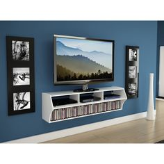 Winslow White Altus Plus Wall Mounted Audio/Video Console | Overstock.com Shopping - The Best Deals on Entertainment Centers