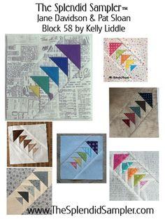 58 Splendid Sampler Kelly Liddle block multi