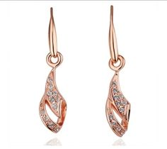 18K Gold plated Crystal Fashion Earrings. $15.95 only. Reg 25.95. Free US & Int'l shipping