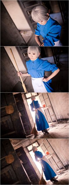 Howl's Moving Castle-A cleaning woman by ~Sakina666 on deviantART
