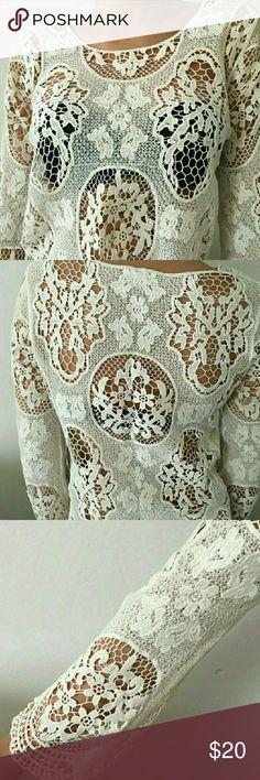 Boho Crochet Boho crochet bathing suit cover up! Tops Tees - Long Sleeve