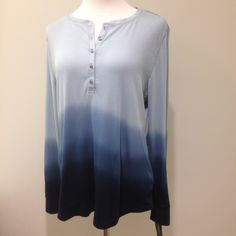 Casual ombré top 100% cotton American Living Tops