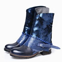 >> Click to Buy <<  Choudory 2017 Punk Style Western Flat Cowboy Rain Boot Combat Ankle Boots Riding Motorcycle Shoes Woman Size42 #Affiliate