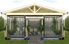 Blind Outdoor Bistro Shp 120x240cm Clr Pvc Blk Bi1224 - Bunnings Warehouse $108.00