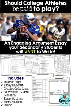 why college athletes should be paid athlete nfl coaches and college argument essay unit should college athletes be paid to play