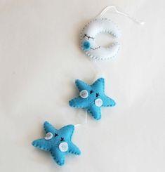 Felt star decoration for birth baby boy crib by federicacreazioni, €20.00