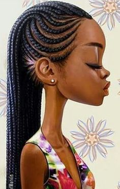 Afro hair is typically associated with natural curls that have a thick, frizzy texture. Such a distinctive type of hair might seem hard to manage, but this has not stopped African beauties from spo… Black Girls Hairstyles, African Hairstyles, Afro Hairstyles, Drawing Hairstyles, Teenage Hairstyles, Latest Hairstyles, Ghana Braids, African Braids, Braids Cornrows