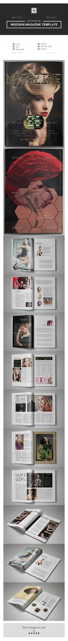 Professional InDesign magazine template that can be used for any type of industry. This item consist of 26 pages that fully editab