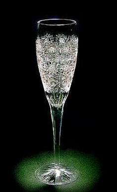 Polish crystal champagne flutes