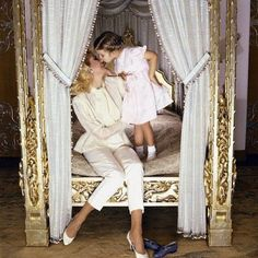 Ivanka and her mother in her bedroom at Mar-a-lago