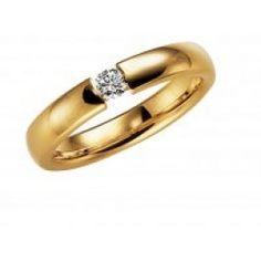 Vacker förlovningsring vigselring Dublin i 18k guld från Schalins i serien  Europa Exklusiv. Ringen har en diamant på 0 268c695d62acf