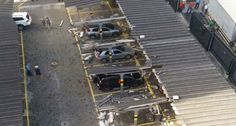 Parque De Estacionamento Fica Destruído Após Idoso Tentar Retirar Carro Do Vizinho