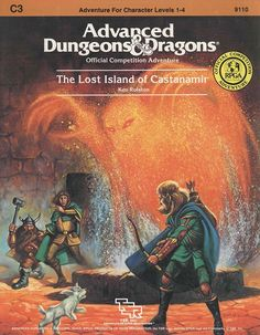 C3 The Lost Island of Castanamir (1e) | Book cover and interior art for Advanced Dungeons and Dragons 1.0 - Advanced Dungeons & Dragons, D&D, DND, AD&D, ADND, 1st Edition, 1st Ed., 1.0, 1E, OSRIC, OSR, Roleplaying Game, Role Playing Game, RPG, Wizards of the Coast, WotC, TSR Inc. | Create your own roleplaying game books w/ RPG Bard: www.rpgbard.com | Not Trusty Sword art: click artwork for source