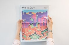 This Is First is a newspaper designed to celebrate the talent of Birmingham City University's Visual Communication course.