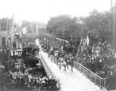 Den Helder Koningsplein 1894 bezoek Koningin Emma en Wilhelmina