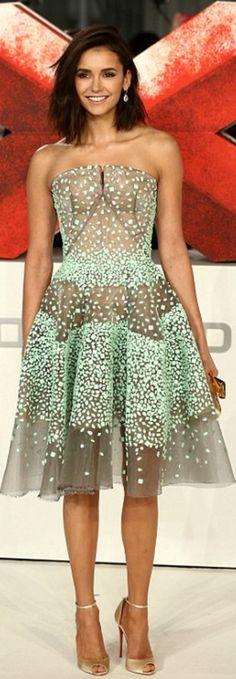 Nina Dobrev: Dress – Zac Posen  Shoes – Christian Louboutin