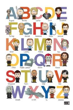 Sci-Fi Alphabet Nursery Art - A to Z - Alphabet Poster - Geek-a-bye Baby - Sci-Fi Geek - ABCs. $20.00, via Etsy.