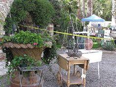 French garden flea market...