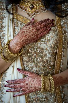 Gold Embellished Indian Bridal Outfit