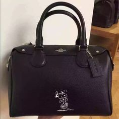 Coach limited edition brand new Coach limited edition snoppy small Bennett black leather Coach Bags Satchels