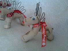 Wine Cork Reindeer.  Easy craft for adult or kid and only costs about $3 to make 10 of them!