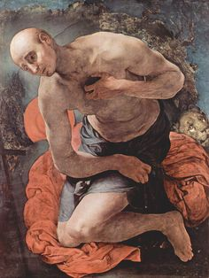 The Penitence of St. Jerome by Jacopo Pontormo, Mannerism (Late Renaissance) religious painting — Artful for Mac High Renaissance, Renaissance Artists, Muse Kunst, Pier Paolo Pasolini, St Jerome, Figurative Kunst, Muse Art, Found Art, Art Database