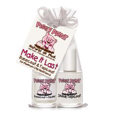 Piggy Paint Make it Last 2 Polish Gift Set, 2 pc, Clear Tech Gifts, All Gifts, Home Gifts, Water Based Nail Polish, Nail Polish Sets, Natural Nail Polish, Natural Nails, Neem Oil, Beauty Box