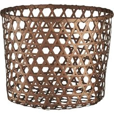 CB2 Copper Large Basket (1.585 RUB) ❤ liked on Polyvore featuring home, home decor, small item storage, woven basket, modern home accessories, weave basket, cb2 e hand woven basket