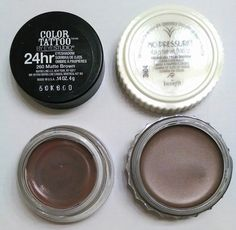 Maybelline Color Tattoo Matte Brown -Benefit Creaseless Cream Eyeshadow No Pressure Dupe!