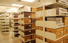 Washington County TN Archives. Large, upstairs archival storage.