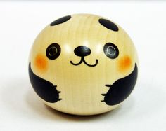 One of the characteristic of these hand made Kokeshi is the beautiful grain of the wood and adoption of the new artistic technique. Manufacturer Usaburo Kokeshi. Yura Koro Panda (Panda). Item Japanese Wooden Kokeshi Doll. | eBay!