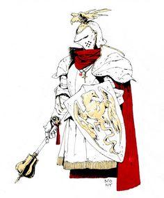 B&B - monypich: Inktobers 21-25 i - A Knight's Focus ...