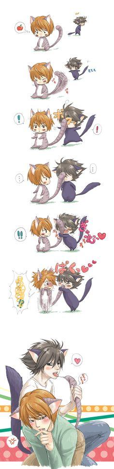 Kitty L x Light |It's soooo cuteeee and that last panel @.@