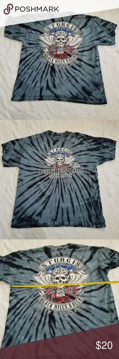 Moto Guzzi T Shirt Size XL 2003 Motorcycle Rally South Dakota Free USA Shipping