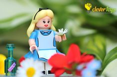 """Alice: """"Curiosity often leads to trouble. Lego Disney, Curiosity, Alice, Disney Princess, Toys, Disney Characters, Activity Toys, Games, Disney Princesses"""
